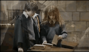 Cute, Tumblr, and Blog: mysticfeather:  oceanaroll:  charleneeeeeee:  29knutstoasickle:  Break a prop? Just put it back and walk away… ha ha!!  Emma's reaction though   Sometimes it freaks me out how much like their characters they are. Emma's very concerned, Dan saves the day, Rupert laughs.  I'm never not reblogging this. They're just so damn cute…