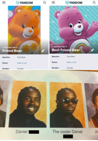 """<p>You vs the guy she told you not to worry about via /r/memes <a href=""""https://ift.tt/2s7pRKC"""">https://ift.tt/2s7pRKC</a></p>: n: Care Bear Wiki  Best Friend Bear  n: Care Bear Miki →  Friend Bear  Species:  Care Bear  Species:  Care Bear  Home:  Care-a-Lot  Home:  Care-a-Lot  Gender:  Female  Gender  Female  Daniel  The cooler Daniel  Ju <p>You vs the guy she told you not to worry about via /r/memes <a href=""""https://ift.tt/2s7pRKC"""">https://ift.tt/2s7pRKC</a></p>"""