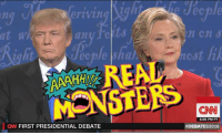Dank, Cartoon, and Cartoons: n Ch S  an  REAL.  MONST  6:06 PM PT  CN FIRST PRESIDENTIAL DEBATE  #DEBATES 2016 I think I'm gonna skip the debate tonight and watch some old cartoons instead.