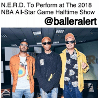 "All Star, Basketball, and Billboard: N.E.R.D. To Perform at The 2018  NBA All-Star Game Halftime Show  @balleralert N.E.R.D. To Perform at The 2018 NBA All-Star Game Halftime Show – blogged by @MsJennyb ⠀⠀⠀⠀⠀⠀⠀ ⠀⠀⠀⠀⠀⠀⠀ In about a month, the league's fan-favorite players will head to Los Angeles to face-off in the 2018 NBA All-Star game. ⠀⠀⠀⠀⠀⠀⠀ ⠀⠀⠀⠀⠀⠀⠀ The highly anticipated weekend will feature a dunk contest, a three-point contest, and other activities between the fan-selected All-Star players. The weekend will also consist of a Celebrity Basketball game, a special sit down with Shaquille O'Neal and Kobe Bryant and performances by N.E.R.D and Fergie. ⠀⠀⠀⠀⠀⠀⠀ ⠀⠀⠀⠀⠀⠀⠀ According to Billboard, on Sunday, February 18, N.E.R.D. will hit the stage to perform a medley of smash hits during halftime, including latest single ""Lemon,"" featuring Rihanna. Prior to the halftime show, Fergie will perform the national anthem and Barenaked Ladies will play the Canadian national anthem."
