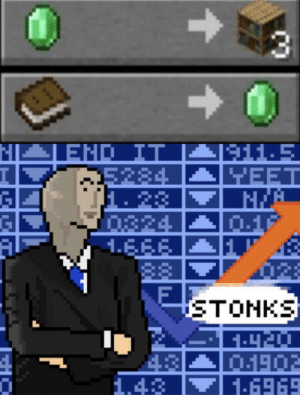 Dank Memes, Eee, and Right: N  END IT  234  1. 23  1324  1.EEE  A11.5  YEET  0.1  STONKS  01902  1.6969  1.43 Villagers are always right!