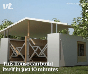 These portable houses allow you to live anywhere 😲🏠: n Fold E  ivt  This house can build  itself in just 10 minutes These portable houses allow you to live anywhere 😲🏠