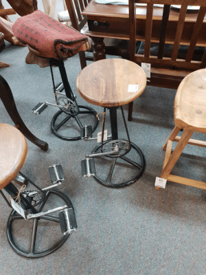 Stool,  Pedal, and Pedal Stool: N.G  $230 A pedal-stool?