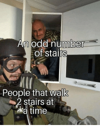 Memes, Time, and 🤖: n odd number  of stairs  People that walk  2 stairs at  Aa time Checkmate