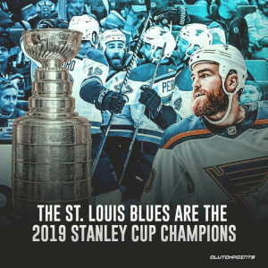 The St. Louis Blues WIN THE STANLEY CUP 🏆 Now just 11 out of 31 NHL teams have never won a Stanley Cup title.: N  Patet  PER  THE ST. LOUIS BLUES ARE THE  2019 STANLEY CUP CHAMPIONS  CLUTCHPOINTS  PRRIOR The St. Louis Blues WIN THE STANLEY CUP 🏆 Now just 11 out of 31 NHL teams have never won a Stanley Cup title.