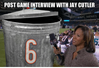 LIVE: Lisa Salters interview with Jay Cutler: N POST GAME INTERVIEW WITH JAY CUTLER  @NFL MEMES LIVE: Lisa Salters interview with Jay Cutler