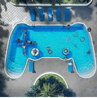 Really cool designed pool..: N Really cool designed pool..