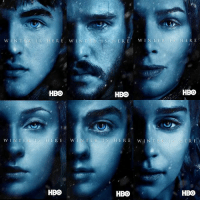 All 12 character posters for Game of Thrones season 7!: N TER  w INTER IS HER  E WIN  T  ER  w  HERE  HBO  HBO  HBO  WIN TER IS HERE  W IN TER LS HERE  TWIN  TER I S HERE  HBO  HBO  HBO All 12 character posters for Game of Thrones season 7!
