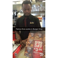 You know Manchester United is going down hill when...: Patrice Evra works in Burger King  OF THE  £3.99  EVERY D You know Manchester United is going down hill when...