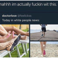 Memes, Money, and News: nahhh im actually fuckin wit this  doctorlove @feelickss  Today in white people news: 1. How is this white people news I would genuinely wear these. 2. Paper clip shaped money clip 3. If you want an icon like mine dm @latinabrat