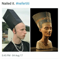 Memes, Cosplay, and 🤖: Nailed it. #nefertiti  5:45 PM 04 Aug 17 Cosplay. | Follow @aranjevi for more!