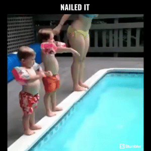 Funny, Memes, and Videos: NAILED IT  S Stumbler RT @StumblerFunny: For more funny videos follow @StumblerFunny or visit https://t.co/wXxwph26cH https://t.co/echJb85e25