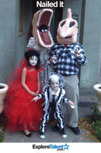 Beetlejuice...beetlejuice...beetlejuice! How awesome is this?!  💀: Nailed it  Talent A  Explore Beetlejuice...beetlejuice...beetlejuice! How awesome is this?!  💀