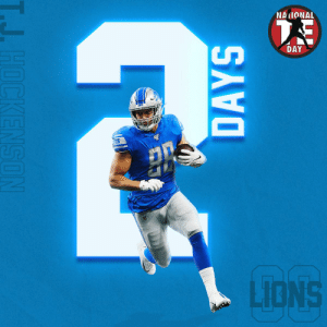Memes, Lions, and 🤖: NAIONAL  DAY  LIONS  HOCKENSON  DAYS Put your pads on. Lace up those cleats.  TWO DAYS UNTIL #NationalTightEndsDay! 😤 @TheeHOCK8 https://t.co/lIJAP8fZfZ