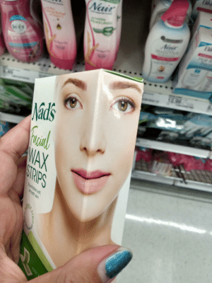 Why would you do this: Nair  Nair  SENSITY  TTRA  Hair  eat  Vels  12.00  849  Nad's  WAX  STRIPS  Touchable soft  smooth skin  STRIP  JUST Why would you do this