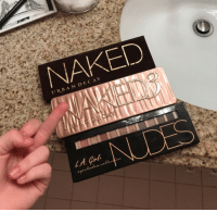To all these nibbas asking for nudes 😤: NAKED  URBAN DECAY To all these nibbas asking for nudes 😤