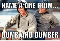 If I know Mary as well as I think I do, she'll invite us right in for tea and strumpets.: NAME A LINE FROM  DUMB AND DUMBER  mematic net If I know Mary as well as I think I do, she'll invite us right in for tea and strumpets.