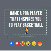 Jimmy Alapag   © PBAscorebox: NAME A PBA PLAYER  THAT INSPIRES YOU  TO PLAY BASKETBALL  fb.com/groups/pba official Jimmy Alapag   © PBAscorebox