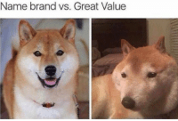Great Value: Name brand vs. Great Value