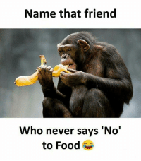 Food, Memes, and Never: Name that friend  Who never says 'No'  to Food Follow our new page - @sadcasm.co
