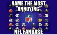 Who do you hate the most???  Like the Total Pro Sports page for more!: NAME THE MOST  ANNOYING  NFL  NFL FAN BASE Who do you hate the most???  Like the Total Pro Sports page for more!