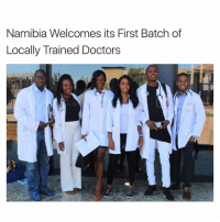 Memes, Train, and 🤖: Namibia Welcomes its First Batch of  Locally Trained Doctors