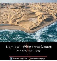 deserted: Namibia - Where the Desert  meets the Sea.  /didyouknowpagel @didyouknowpage