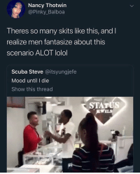 Rich Homie Quan really fell off 😖 @larnite • ➫➫➫ Follow @Staggering for more funny posts daily! • (Ignore: memes dank funny cats insta love me goals happy love twitter): Nancy Thotwin  @Pinky_Balboa  Theres so many skits like this, and l  realize men fantasize about this  scenario ALOT lolol  Scuba Steve @itsyungjefe  Mood until I die  Show this thread  STATUS Rich Homie Quan really fell off 😖 @larnite • ➫➫➫ Follow @Staggering for more funny posts daily! • (Ignore: memes dank funny cats insta love me goals happy love twitter)