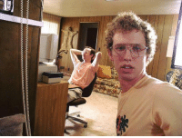 Napoleon Dynamite taken a selfie while on break after their film shoot in 2003