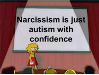 Me_irl: Narcissism is just  autism with  confidence Me_irl