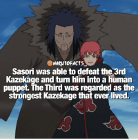 So Sasori single handedly defeated the 3rd Kazekage? 😱 | Name your favorite character with red hair! 😉 | mine is Nagato! 🙏 | follow @marvelousfacts: NARUTOFACTS  Sasori was able to defeat the 3rd  Kazekage and turn him into a human  puppet. The Third was regarded as the  strongest Kazekage that ever lived. So Sasori single handedly defeated the 3rd Kazekage? 😱 | Name your favorite character with red hair! 😉 | mine is Nagato! 🙏 | follow @marvelousfacts