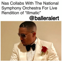 "America, Crazy, and Friday: Nas Collabs With The National  Symphony Orchestra For Live  Rendition of ""lllmatic""  @balleralert Nas Collabs With The National Symphony Orchestra For Live Rendition of 'Illmatic' - Blogged by: @RaquelHarrisTV ⠀⠀⠀⠀⠀⠀⠀⠀⠀ ⠀⠀⠀⠀⠀⠀⠀⠀⠀ An upcoming PBS concert film has teamed up Nas with the National Symphony Orchestra for a live performance that takes you back to the 90s. ⠀⠀⠀⠀⠀⠀⠀⠀⠀ ⠀⠀⠀⠀⠀⠀⠀⠀⠀ The iconic rapper will be doing a live rendition of his legendary, 1994 album ""Illmatic"" at the Washington, D.C. arena on Feb. 2. It is titled by PBS as, ""Nas Live From the Kennedy Center: Classical Hip-Hop, the concert film musters the energetic appeal of the profound collaboration and wistfulness of the audible hip-hop Queensbridge fable."" ⠀⠀⠀⠀⠀⠀⠀⠀⠀ ⠀⠀⠀⠀⠀⠀⠀⠀⠀ ""It's crazy, you know, I wrote this in the projects in New York City. Here we are in the capital of America, Washington, DC, and, you know, a bunch of white people with strings and all that, playing this album, and they feeling it,"" Nas said in the film trailer. ⠀⠀⠀⠀⠀⠀⠀⠀⠀ ⠀⠀⠀⠀⠀⠀⠀⠀⠀ The recording of the concert film took place in March 2014, when Nas was celebrating Illmatic's 20th anniversary. The film will portray the Queens native's upbringing, career, and musical background. It will also feature rehearsals, preparation and Illmatic's journey to Kennedy Center stage. ⠀⠀⠀⠀⠀⠀⠀⠀⠀ ⠀⠀⠀⠀⠀⠀⠀⠀⠀ ""This was the first time me as a classical orchestra conductor was going to branch out into the realm of doing hip-hop music and rap music. And the idea of finally tackling this genre was something I was really looking forward to do,"" National Symphony Orchestra Principal Pops Conductor Steven Reineke said in a statement. The performance is set to premiere on the PBS network nationwide on Friday, February 2 at 9 p.m"