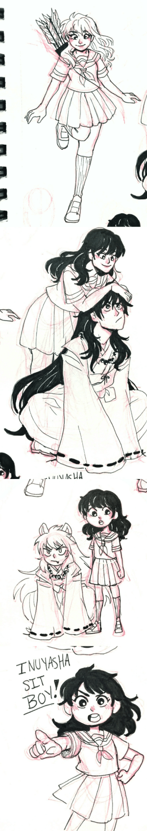 Nas, Target, and Tumblr: NAS HA   INUYASHA  SLT  BOY aaliyah-draws:  Inuyasha and Kagome sketches!
