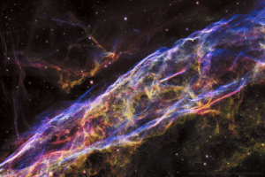 photos-of-space:  The Veil Nebula – the remains of a star that exploded in a supernova approximately 7,000 years ago. Image is a mosaic of six Hubble Space Telescope images which cover a span of about two light years. [6000 × 4000]: NASA, ESA, &Hubble Herltage Team (STScl/AURA) photos-of-space:  The Veil Nebula – the remains of a star that exploded in a supernova approximately 7,000 years ago. Image is a mosaic of six Hubble Space Telescope images which cover a span of about two light years. [6000 × 4000]
