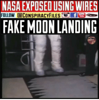"Double tap and tag a friend! WATCH FULL VIDEO ON FACEBOOK! (Link in bio) SUBSCRIBE ON YOUTUBE! @ConspiracyFiles YouTube SWIPE LEFT TO VIEW MULTI POST! PROOF THE MOON LANDING WAS FAKE.... Humans cannot get through the radiation belts. Apollo 15 photographic record does NOT depict real lunarscapes with distant backgrounds located more than a kilometre away from the camera. The moon landing pictures were, without doubt, taken in a studio set. NASA admits they cannot get past the Van Allen Radiation Belt. ""NASA is still seeking to develop technology to safeguard humans for spaceflight into radiation-laden space within and beyond the Van Allen Radiation belts, and the protection provided by our magnetosphere."" ""Until that technology is available, our exploits into space will continue to be well below the beginning of radiation belts so intense, Van Allen called them a SEA of DEADLY RADIATION. What we know from the effects of radiation on Earth teaches us that Apollo was nothing more than mere FANTASY."" Every space ship, whether Russian or American with humans aboard, beginning in 1961 to the present, all have maintained altitudes of one thousand miles well below the Van Allen Radiation Belts. According to the American Government the only space craft to go through the 25,000 miles of those belts was the Apollo. The world is beginning to find out the American government is full of shit! N.A.S.A (Never a straight answer) Since 1947 ConspiracyFiles ConspiracyFiles2 MoonLandingWasFake MoonLandingFaked NASA NeverAStraightAnswer MoonLanding Moon CorruptGovernment WakeUpSheeple Sheeple UncleSam UncleScam Illuminati NewWorldOrder FEMAConcentrationCamps ControlledMedia CNN FoxNews Humans Radiation VanAllenBelt Apollo VanAllenRadiationBelt ConspiracyFact Conspiracy ConspiracyTheories ConspiracyTheory ConspiracyFiles Follow back up page! @ConspiracyFiles2 Follow @terrorclipz Follow @uniformedthugs Follow @celebrityfactual Follow @historypicture.s Follow @simpsonsprediction.s Follow @th3six: NASA EXPOSED USING WIRES  FOLLOW @CONSPIRACYFILES(.Eite  FAKE MOON LANDING Double tap and tag a friend! WATCH FULL VIDEO ON FACEBOOK! (Link in bio) SUBSCRIBE ON YOUTUBE! @ConspiracyFiles YouTube SWIPE LEFT TO VIEW MULTI POST! PROOF THE MOON LANDING WAS FAKE.... Humans cannot get through the radiation belts. Apollo 15 photographic record does NOT depict real lunarscapes with distant backgrounds located more than a kilometre away from the camera. The moon landing pictures were, without doubt, taken in a studio set. NASA admits they cannot get past the Van Allen Radiation Belt. ""NASA is still seeking to develop technology to safeguard humans for spaceflight into radiation-laden space within and beyond the Van Allen Radiation belts, and the protection provided by our magnetosphere."" ""Until that technology is available, our exploits into space will continue to be well below the beginning of radiation belts so intense, Van Allen called them a SEA of DEADLY RADIATION. What we know from the effects of radiation on Earth teaches us that Apollo was nothing more than mere FANTASY."" Every space ship, whether Russian or American with humans aboard, beginning in 1961 to the present, all have maintained altitudes of one thousand miles well below the Van Allen Radiation Belts. According to the American Government the only space craft to go through the 25,000 miles of those belts was the Apollo. The world is beginning to find out the American government is full of shit! N.A.S.A (Never a straight answer) Since 1947 ConspiracyFiles ConspiracyFiles2 MoonLandingWasFake MoonLandingFaked NASA NeverAStraightAnswer MoonLanding Moon CorruptGovernment WakeUpSheeple Sheeple UncleSam UncleScam Illuminati NewWorldOrder FEMAConcentrationCamps ControlledMedia CNN FoxNews Humans Radiation VanAllenBelt Apollo VanAllenRadiationBelt ConspiracyFact Conspiracy ConspiracyTheories ConspiracyTheory ConspiracyFiles Follow back up page! @ConspiracyFiles2 Follow @terrorclipz Follow @uniformedthugs Follow @celebrityfactual Follow @historypicture.s Follow @simpsonsprediction.s Follow @th3six"
