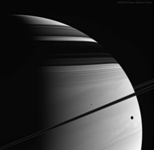 Nasa, Tumblr, and Blog: NASA/JPL/Space Science Institute space-pics:  Moons, Rings, Shadows, Clouds: Saturn (Cassini) - [960x947]