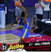 """Can't wait to see @2ez_nassie in the Ballislife All-American Game!  Stay locked on Ballislife for the rest of our roster announcements! #BILAAG https://t.co/VFCzMdFJdd: NASSIRLITILE  6'7"""" - SMALL FORWARD  2018 BALLISLIFE ALL AMERICAN GAME  MAY 5-CERRITOS,CA Can't wait to see @2ez_nassie in the Ballislife All-American Game!  Stay locked on Ballislife for the rest of our roster announcements! #BILAAG https://t.co/VFCzMdFJdd"""