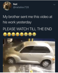 Cats, Dank, and Funny: Nat  @nataliex728  My brother sent me this video at  his work yesterday  PLEASE WATCH TILL THE END Drive better than any female I ever rode with @larnite • ➫➫➫ Follow @Staggering for more funny posts daily! • (Ignore: memes dank funny cats insta love me goals happy love twitter)