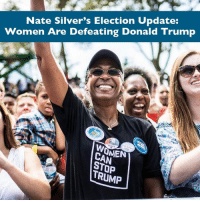 Women c̶a̶n̶ WILL stop Trump: http://53eig.ht/2dXeK1y: Nate Silver's Election Update:  Women Are Defeating Donald Trump  CARMEN  TRUMP Women c̶a̶n̶ WILL stop Trump: http://53eig.ht/2dXeK1y