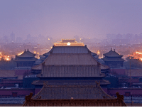 Beijing, Tumblr, and China: natgeotravel:  A purple haze falls over the Forbidden City in today's Travel 365. Photograph by Lucas Vallecillos, VWPics/Redux