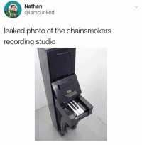 chainsmokers: Nathan  @iamcucked  leaked photo of the chainsmokers  recording studio