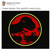 Instagram, Worst, and Drawn: Nathan W. Pyle  @nathanwpyle  I have drawn the world's worst purn Instagram: @punsonly