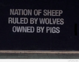 Funny quote about our worldhttp://omg-humor.tumblr.com: NATION OF SHEEP  RULED BY WOLVES  OWNED BY PIGS  LeFunny.net Funny quote about our worldhttp://omg-humor.tumblr.com