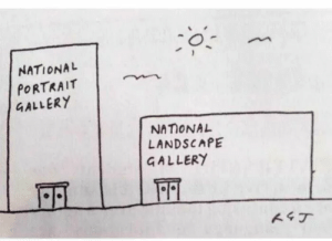 Funny, Via, and Href: NATIONA  PORTRAIT  GALLERY  NAMONAL  LANDSCAPE  GALLERY Please laugh via /r/funny https://ift.tt/2Svg2S2