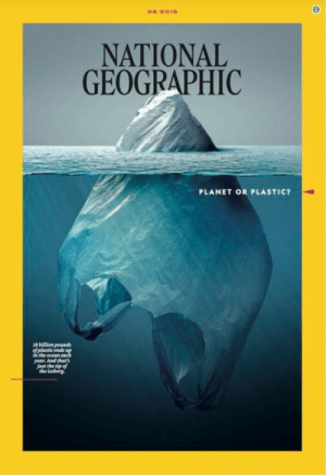 Af, Trash, and True: NATIONAL  GEOGRAPHIC  PLANET OR PLASTIC?  is billion pounds  ehe ocean  year. And thar  just the sip af  he iceber brainsleyreny:  sixpenceee:    Plastics are a problem in this world. Here are photos that shows our plastic addiction.   Image credits: Randy Olson / National Geographic     This breaks my motherfucking heart, you guys.