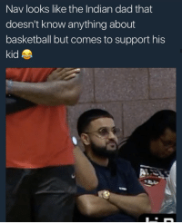 <p>Flying his son to ATL (via /r/BlackPeopleTwitter)</p>: Nav looks like the Indian dad that  doesn't know anything about  basketball but comes to support his  kid <p>Flying his son to ATL (via /r/BlackPeopleTwitter)</p>