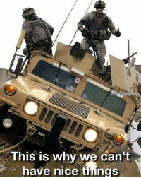 Memes, Navy, and Nice: Navy Memes com  This is why we can't  have nice things carl hummer humvee waytoofast ditch 4wheeler mudding offroad stuck goodjob ofcourse