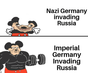 Germany, Kaiser, and Russia: Nazi Germany  invading  Russia  Imperial  Germany  Invading  Russia Für den Kaiser!