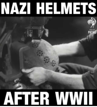 What happened to German Nazi helmets after World War 2.: NAZI HELMETS  BRITISH.  PA  AFTER WWII What happened to German Nazi helmets after World War 2.