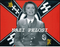 A photo of Nancy Pelosi at a meeting of top Democrats was recently found.: NAZI PELOSI A photo of Nancy Pelosi at a meeting of top Democrats was recently found.